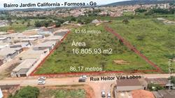 Lote à venda Rua  HEITOR VILLA LOBOS   Formosa, lote 16.805,93m2 para MCMV, Minha Casa Minha Vida