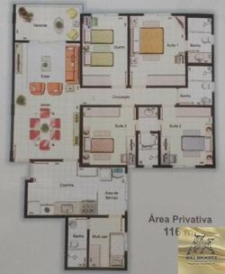 Apartamento à venda Av Jequitibá  , Residencial Quinta das Águas Excelente desconto para pagamento à vista