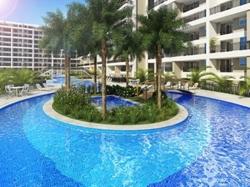 Hotel-Flat à venda CSG 3  , Tagua Life Lazer diferenciado com parque aquático, quadra de areia, poliesportiva e squash, e diversos