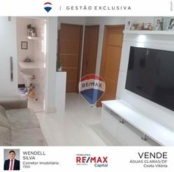 Apartamento à venda QS 5 Rua  310   Apartamento com 2 dormitórios à venda, 46 m² por R$ 210.000 - Areal - Águas Claras/DF